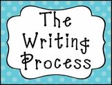 The Writing Process Clip Chart - Blue and Green Polka Dot