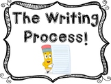 The Writing Process Clip Chart - Editable