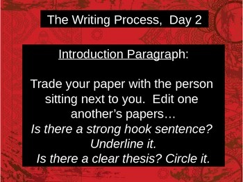 The Writing Process - Constructed Response