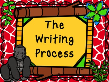 The Writing Process Posters- Jungle/Zoo Theme
