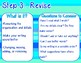 The Writing Process & Editing vs. Revising!