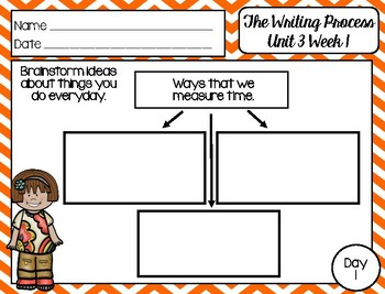 The Writing Process: First Grade- Reading Wonders (Unit 3 Week 1)