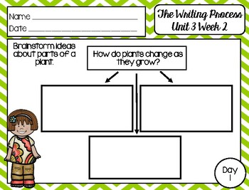The Writing Process: First Grade - Reading Wonders Unit 3 Week 2