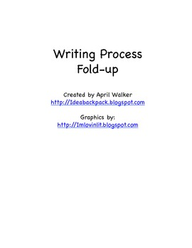 The Writing Process Fold-up - Free