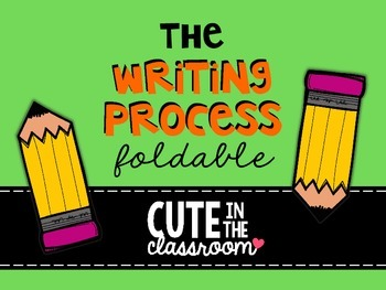 The Writing Process Foldable - Interactive Notebook FREEBIE