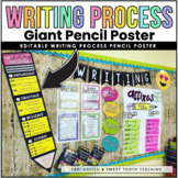The Writing Process Giant Pencil Poster