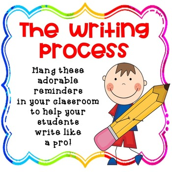 The Writing Process - Keep your kids organized while they write!