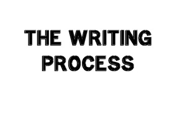 The Writing Process Large Labels