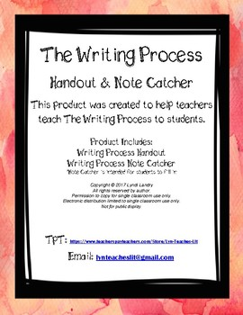 The Writing Process Notes/Note Catcher