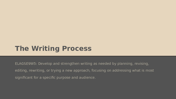 The Writing Process PPT