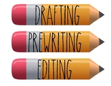 The Writing Process Pencils
