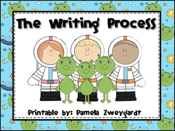 The Writing Process Poster Pack- Space/ Alien Theme