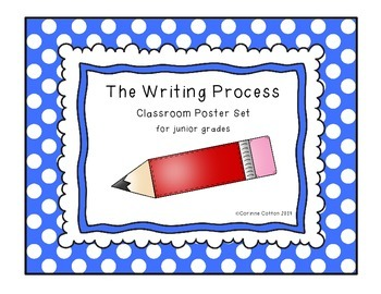 The Writing Process Poster Set for junior grades