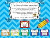 The Writing Process Poster Set in Colorful Chevron Design