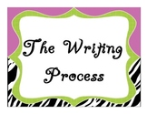 The Writing Process Poster Steps