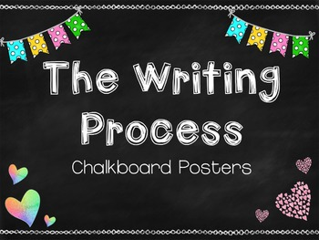 The Writing Process Posters {Chalkboard}