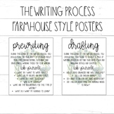The Writing Process Posters / Farmhouse Wreath Classroom Decor