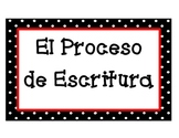 The Writing Process Posters (Spanish)