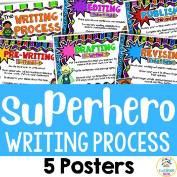 Superhero Theme: Writing Process Posters