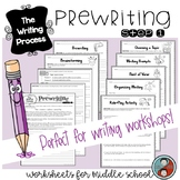 The Writing Process: Prewriting Workshop Sheets