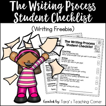The Writing Process Student Checklist- Freebie