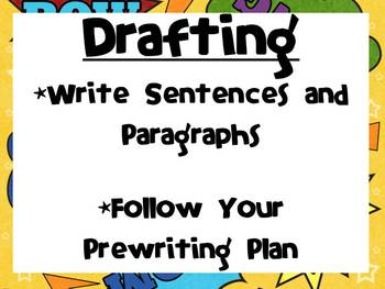 The Writing Process Superhero Theme