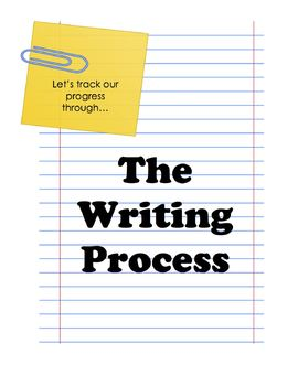 The Writing Process Tracking Charts