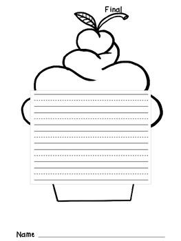 The Writing Process- cupcake