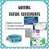 """The Writing Process (digital mini-lesson) """"thesis statements"""""""