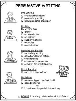 Writing Process with Posters,Graphic Organizers and Checklists