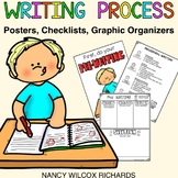 Writing Process with Posters,Graphic Organizers and Checklists Distance Learning