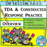 The Writing R.A.T.S. (TDA & Constructed Response Answers) Overview