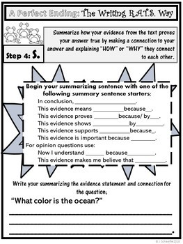The Writing R.A.T.S. (Constructed Response How To)