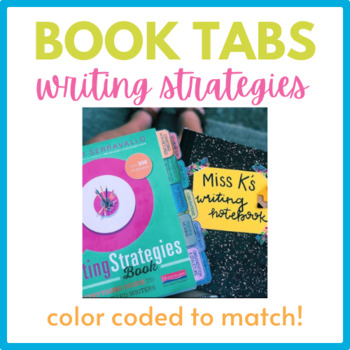 The Writing Strategies- Color Coded Tabs FREEBIE