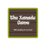 The Xanadu Game - pair work activity for EFL ESL speaking