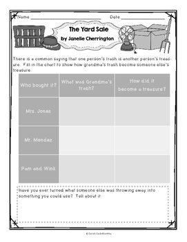 The Yard Sale by Janelle Cherrington, Level E, Guided Reading Lesson Plan