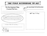 The Year According To Me..(End of Year Poster)