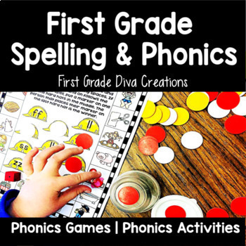 First Grade Spelling and Phonics for the Year Bundle