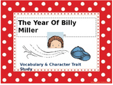 The Year Of Billy Miller Vocabulary, Reading, Writing activities