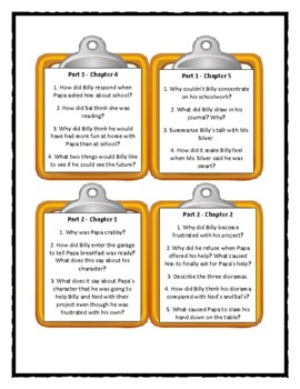 THE YEAR OF BILLY MILLER Kevin Henkes - Discussion Cards