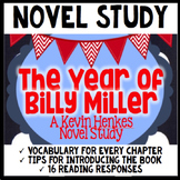 The Year of Billy Miller by Kevin Henkes- Novel Study