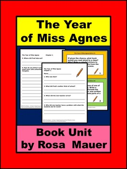 The Year of Miss Agnes Book Unit