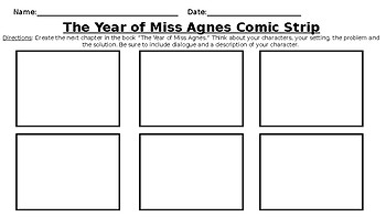 The Year of Miss Agnes Comic Strip- Ready Gen Unit 2 Module A Task Grade 3