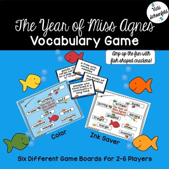 The Year of Miss Agnes Vocabulary Game