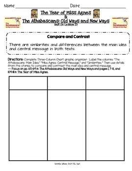 2014 The Year of Miss Agnes and The Athabascans ReadyGen Lesson 13