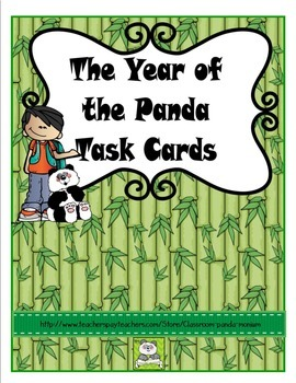 The Year of the Panda Task Cards (CC Aligned)