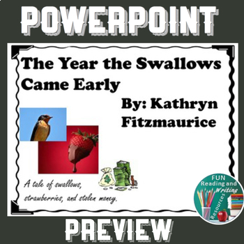 The Year the Swallows Came Early by Kathryn Fitzmaurice PowerPoint