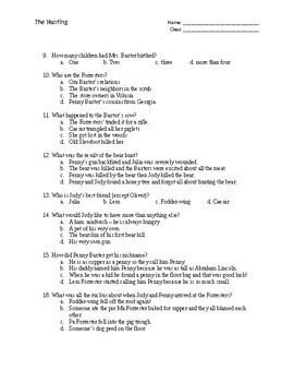 The Yearling Independent Reading Package with Quizzes