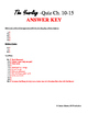The Yearling Quiz ch. 10-15 & Answer Key