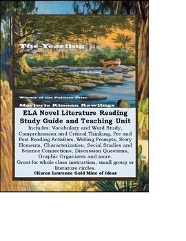 The Yearling by Marjorie Kinnan Rawlings Novel Study Guide Teaching Unit